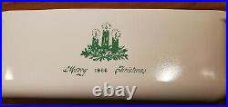 Vintage Corning Ware 1966 Green Merry Christmas 2 Qt Loaf Pan P-315