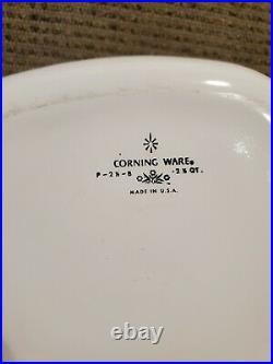 Vintage Corning Ware 2.5 Qt Casserole With Lid Yellow Daisy P 2 1/2 B RARE