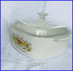 Vintage Corning Ware 5 Liter LEchalote La Marjolaine, Excel'nt Collectible Cond