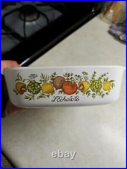 Vintage Corning Ware A-1-b Lechalote Spice Of Life Pryex Dish 1 Liter With LID