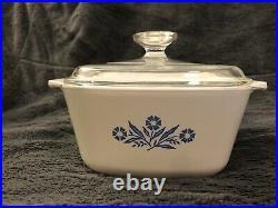 Vintage Corning Ware Blue CornFlower Casserole Dish With Lid 1 3/4QT P-1 3/4-B