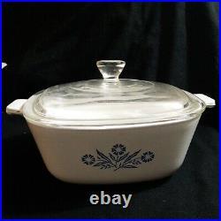 Vintage Corning Ware Blue Cornflower 1 1/2 Qt. Casserole P 1 1/2 B With Lid