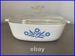 Vintage Corning Ware Blue Cornflower 1 qt, P-1-B