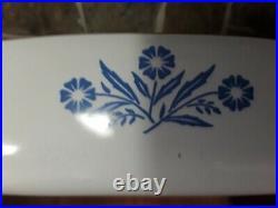 Vintage Corning Ware Blue Cornflower 10 Dish, with Pyroceram Blue Ink Rare Stamp
