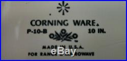 Vintage Corning Ware Blue Cornflower 10 inch Casserole with Lid