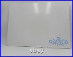 Vintage Corning Ware Blue Cornflower 15 x 11 Glass Counter Saver Cutting Board