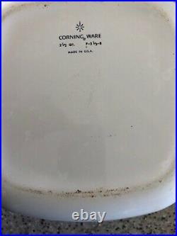 Vintage Corning Ware Blue Cornflower 2 1/2 qt Casserole P 2 1/2 B With Lid