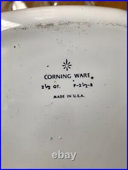 Vintage Corning Ware Blue Cornflower 2 1/2 qt Casserole P 2 1/2 B With Lid, Hndl