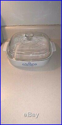 Vintage Corning Ware Blue Cornflower 2 quart Casserole Dish