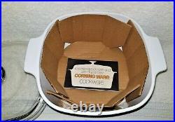 Vintage Corning Ware Blue Cornflower 3 Qt. Casserole & Lid A-3-B New Old Stock