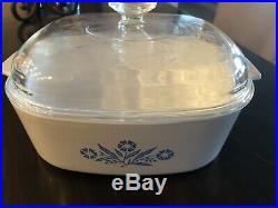 Vintage Corning Ware Blue Cornflower 4 Piece Set
