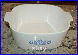 Vintage Corning Ware Blue Cornflower 4 Qt with Lid Stamped p-84-b Excellent Cond