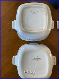 Vintage Corning Ware Blue Cornflower 5 Piece Set 60s-70s