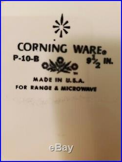 Vintage Corning Ware Blue Cornflower 9 1/2 inch Casserole with Lid P-10-C-1
