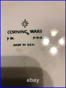 Vintage Corning Ware Blue Cornflower Dish 1960's 9 IN. P-9-B Made in U. S. A