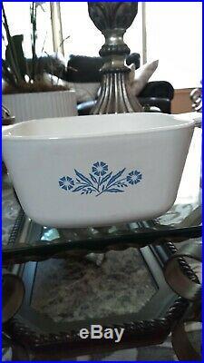 Vintage Corning Ware Blue Cornflower Dish 1960's P-1 3/4-B cornflower stamp