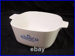 Vintage Corning Ware Blue Cornflower Dish'69-'72 P-1 3/4-B Cornflower Stamp