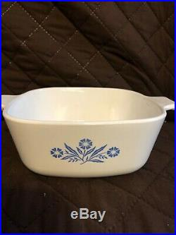 Vintage Corning Ware Blue Cornflower P-1 1/2-B 1.5 qt Casserole Dish
