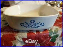Vintage Corning Ware Blue Cornflower P-1-B 1 qt Casserole no lid
