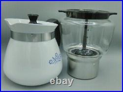 Vintage Corning Ware Blue Cornflower P-118 Drip Coffee Maker Pot 2 Qt. 8 Cups