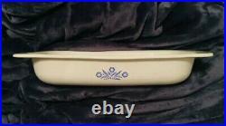 Vintage Corning Ware Blue Cornflower P-21 Open Roaster Lasagna Pan Rare