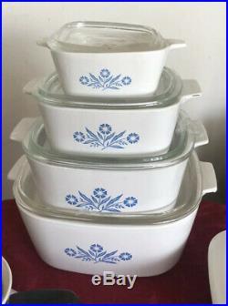 Vintage Corning Ware Blue Cornflower Set 35 Piece Set