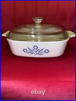 Vintage Corning Ware Blue Cornflower with lid