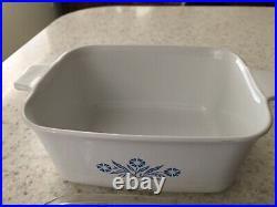 Vintage Corning Ware Blue Cornflower with lid P 4B 7X5 1/2