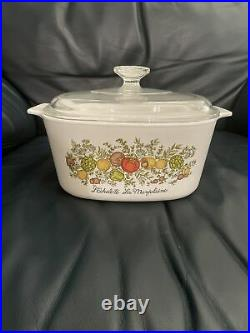 Vintage Corning Ware Casserole Dish 3L Excellent Condition