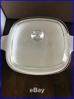 Vintage Corning Ware Casserole Dish with Lid 1.75 Qt CORNFLOWER BLUE P 1 3/4-B