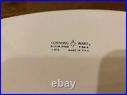 Vintage Corning Ware Dutch Oven P-84-b With Lid