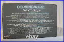 Vintage Corning Ware French N Fry Set in French White New Old Stock NRFB HTF