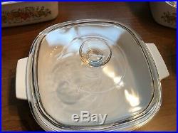 Vintage Corning Ware, Glass, White, original Pattern with lids