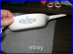 Vintage Corning Ware P-83-B Blue Cornflower Skillet Sauce Pan Excel. Condition