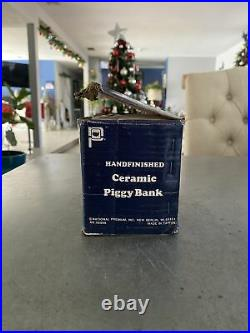Vintage Corning Ware Piggy Bank Blue Cornflower Pig Piggie RARE NEW W BOX