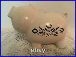 Vintage Corning Ware Piggy Bank Cornflower Blue Pig NO Stopper