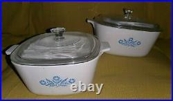 Vintage Corning Ware Set 4 & 21/2 pt made in Australia