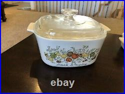 Vintage Corning Ware Spice Of Life 9 Piece Set with Lids Except the Little One EUC