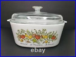 Vintage Corning Ware Spice of Life L'Echalote La Marjolaine Le Romarin 5 Quart