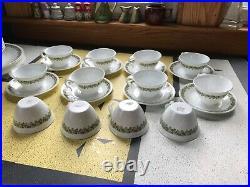Vintage Corning Ware Spring Blossom Crazy Daisy Dinnerware Set -Lot of 43 Pcs