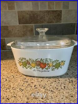 Vintage Corning Ware With La Marjolaine Pattern, 3 Quart With LID