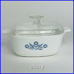 Vintage Corning Ware blue cornflower 1 1/2 Qt. P-1 1/2-B With Cover