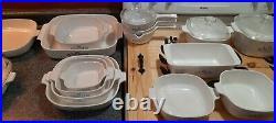 Vintage CorningWare Blue Cornflower Casserole Dish Set LOT OF 21