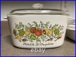 Vintage CorningWare Le Romarin and LEchalote La Marjolaine