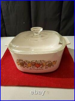 Vintage CorningWare Spice of Life 3 Qt Casserole with Pyrex Lid La Marjolaine