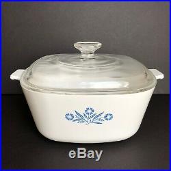 Vintage Corningware Blue Cornflower 2.5 Qt Dish with Lid USA