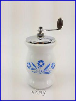 Vintage Corningware Blue & White Cornflower Salt Shaker & Pepper Grinder Mill