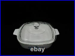 Vintage Early 1960's Corning Ware Blue Cornflower With Lid