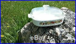 Vintage Le Romarin Corning Ware A-10-B 9 3/4 x 9 3/4 x 2 Casserole Dish