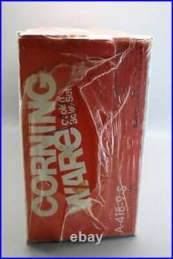 Vintage NOS Coring Ware Cook'n Bake Set NEW Sealed Country Festival Skillet LOT